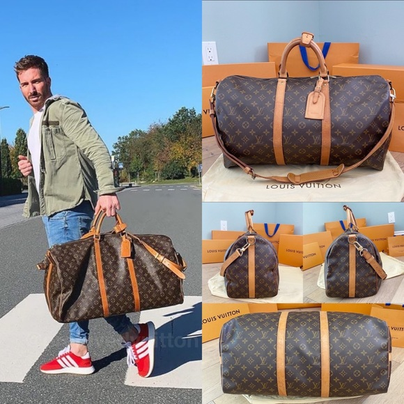 💎KEEPALL BANDOULIERE 50💎 Authentic LV Travel Bag